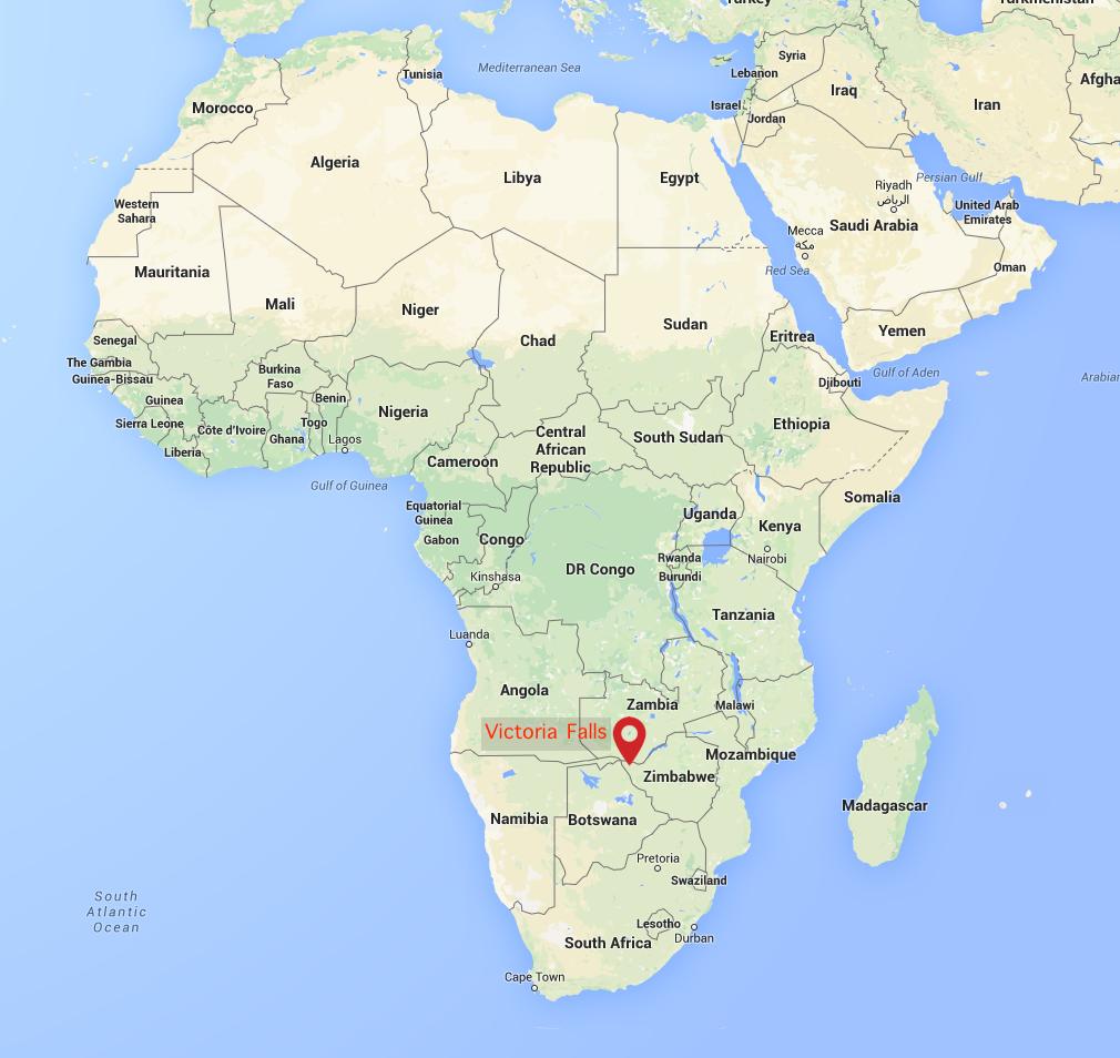 Victoria Falls Map - MATETSI VICTORIA FALLS